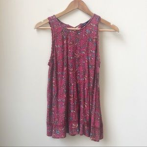 American Eagle floral swing tank top small